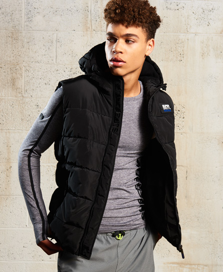 black/black Superdry Sports Puffer Gilet
