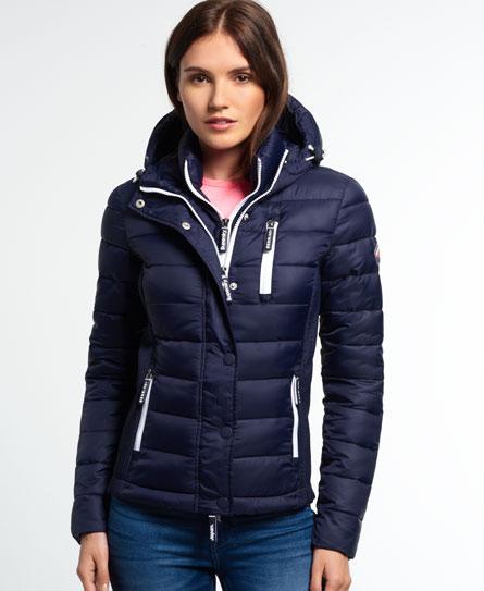 Superdry Hooded Fuji Slim Double Zip Jacket