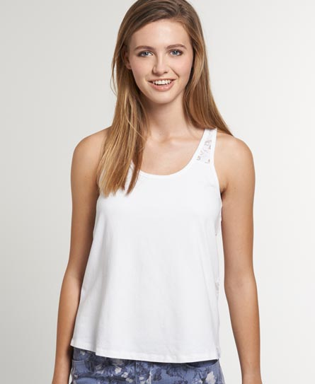 Superdry Lace Loose Vest White