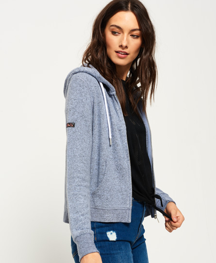 blue/grey Superdry Super Soft Zip Hoodie