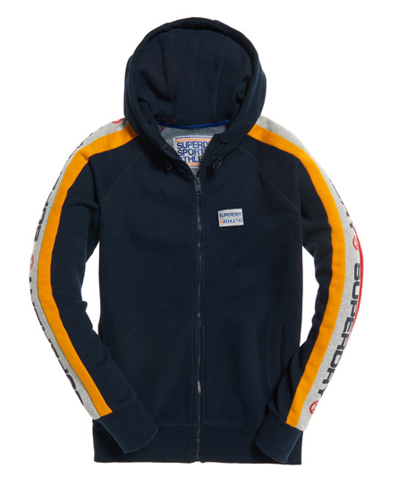 superdry trophy kapuzenjacke mit rmeleinsatz herren hoodies. Black Bedroom Furniture Sets. Home Design Ideas
