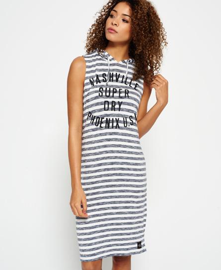 Superdry Leichtes Kleid mit Kapuze - Damen Kleider