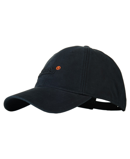 black Superdry Orange Label Solo Cap