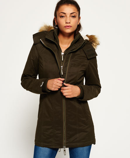 army Superdry Microfibre Tall Windparka Jacket