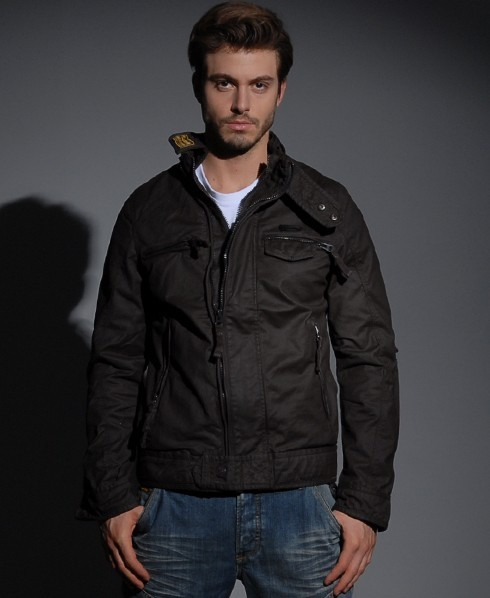 Superdry Scrambler Wax jacket Brown