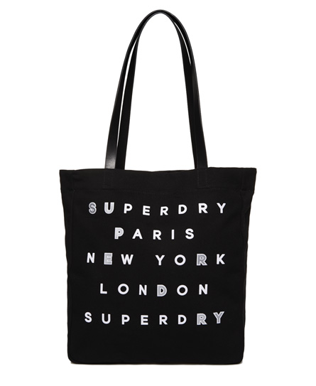 Superdry Etoile Parisian Shopper Bag Light Grey
