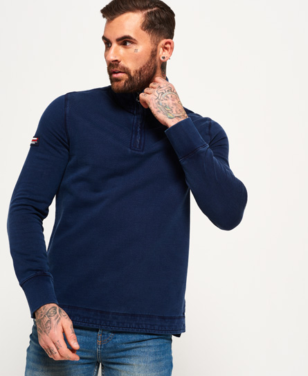 Se Superdry Superdry International henley top ved SuperDry