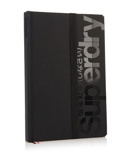 black Superdry Editors Notebook