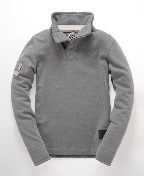 Superdry Royal Henley Top Grey