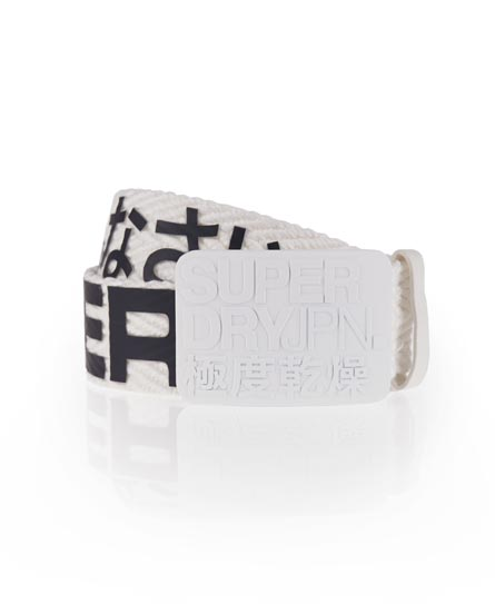 Superdry Sid Herringbone Belt Cream