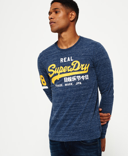urban marineblau gesprenkelt Superdry Vintage Logo Duo T-Shirt