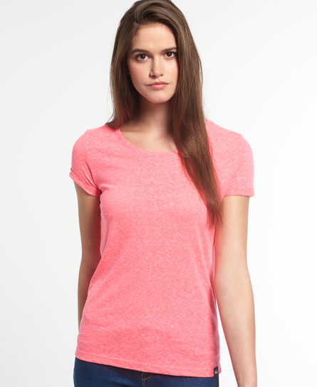 bubblegum pink snowy Superdry Super Sewn Rugged Lace T-Shirt