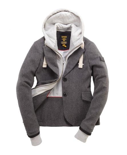 Superdry Hunting Hood Blazer Lt/grey