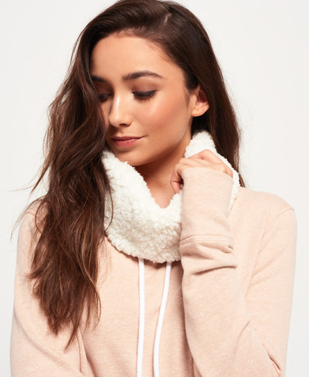 Superdry Sweat-shirt à col cheminée Sherpa Zinnia Rose