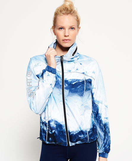 blue ice mountain Superdry Gym Laufjacke