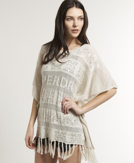 Superdry Inka Beach Shawl Grey