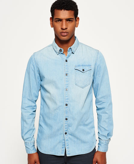Superdry IE Ghost Button Down Denim Shirt