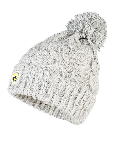grey twist Superdry Clarrie Beanie