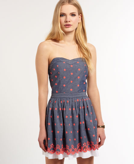 Superdry 50's Daisy Dress Blue