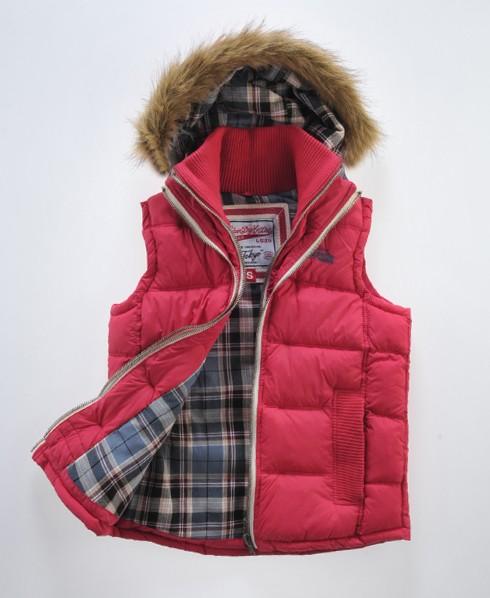 Superdry Fur Hooded Lite Gilet Pink
