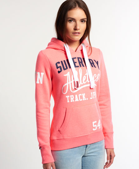 womens athletics trackster hoodie in neon pink superdry. Black Bedroom Furniture Sets. Home Design Ideas