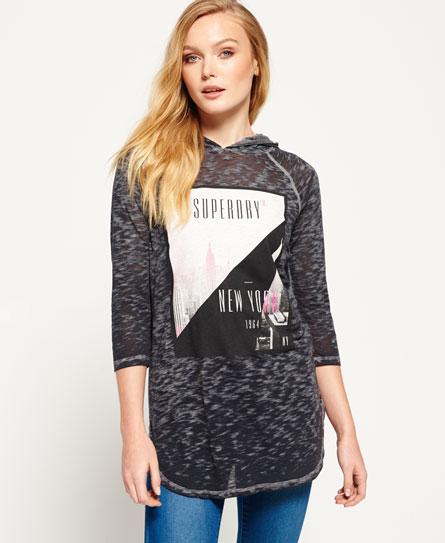 Superdry Baseball T-Shirt mit Kapuze