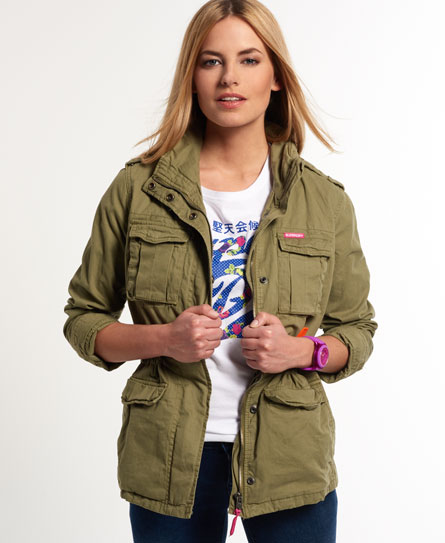 Chaqueta militar mujer superdry