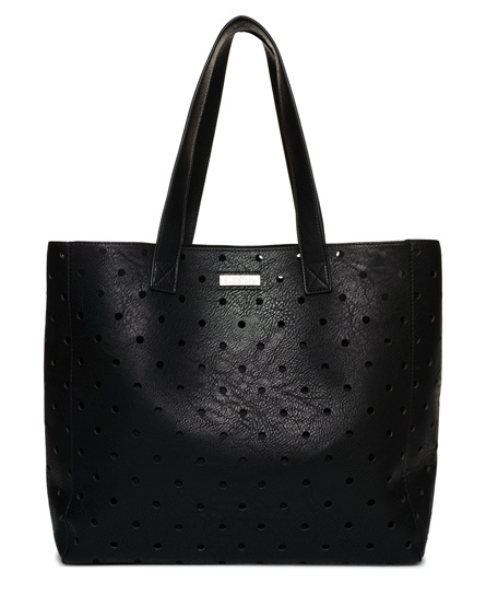 black Superdry Spot Elania Tote Bag