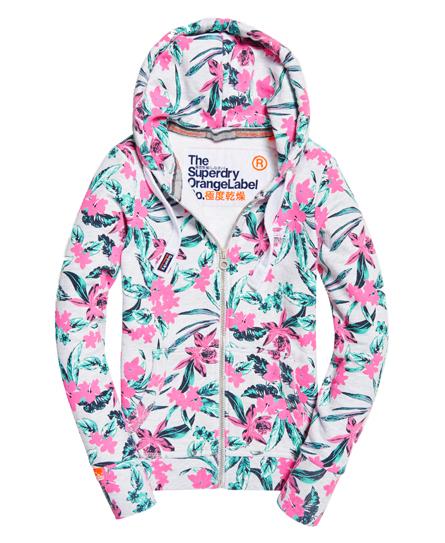 Orange Label volledig bedrukte hoodie met rits