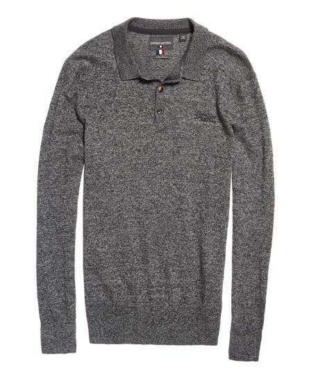 Superdry Orange Label Knit Polo Shirt