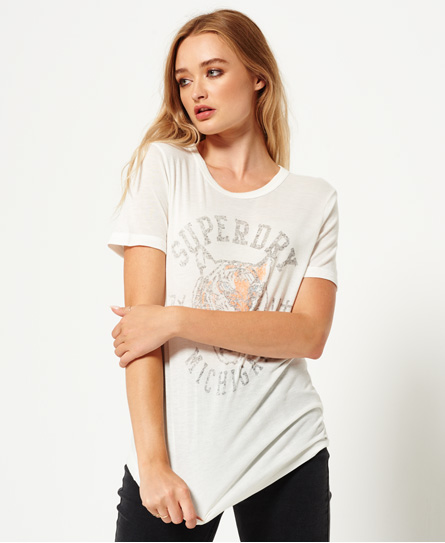 college creme Superdry Olivia Collegiate T-Shirt