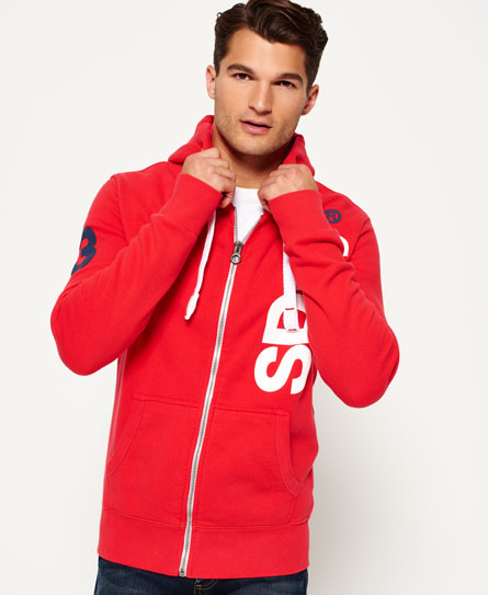 mens international registered zip hoodie in indiana red. Black Bedroom Furniture Sets. Home Design Ideas