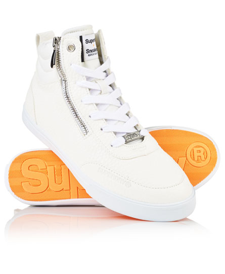blanc Superdry Baskets montantes à zip Nano