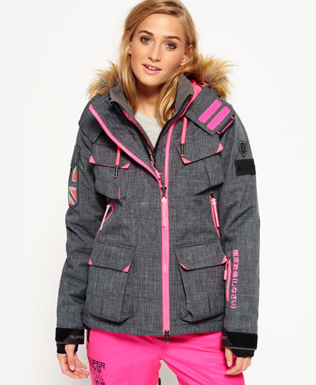grey marl Superdry Ultimate Snow Service Jacket