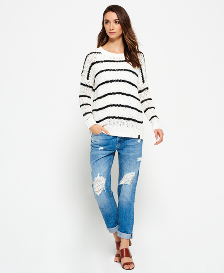 Superdry Textured Stripe Tape Knit Jumper