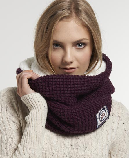 Superdry Herders Snood Purple
