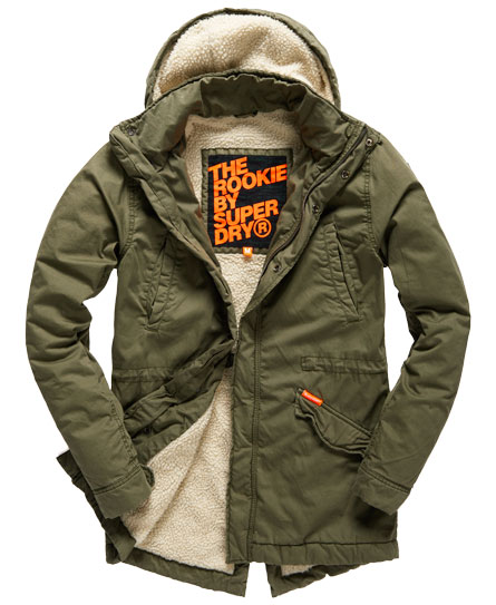 superdry rookie military parka coat men 39 s jackets. Black Bedroom Furniture Sets. Home Design Ideas