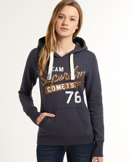 superdry sweat capuche sequin comets sweats capuche pour femme. Black Bedroom Furniture Sets. Home Design Ideas