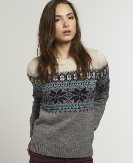 Superdry Whistler Fairisle Crew - Women's Sweaters