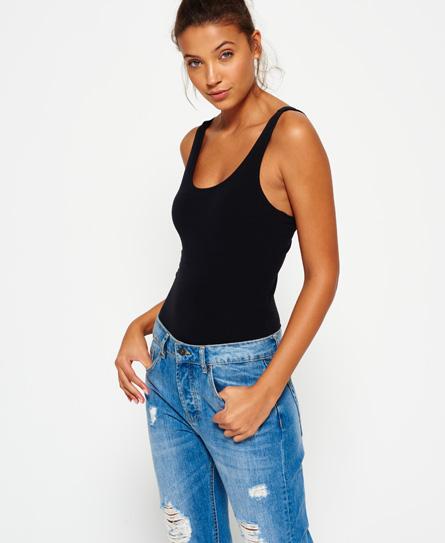 black Superdry Lenox Bodysuit