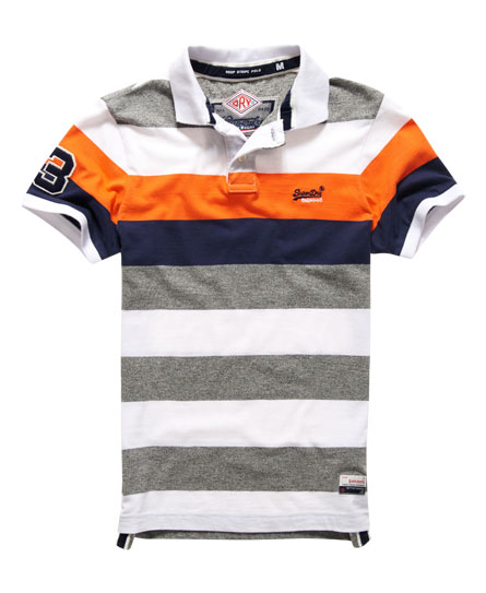 superdry duo hoop stripe polo shirt herren polo shirts. Black Bedroom Furniture Sets. Home Design Ideas