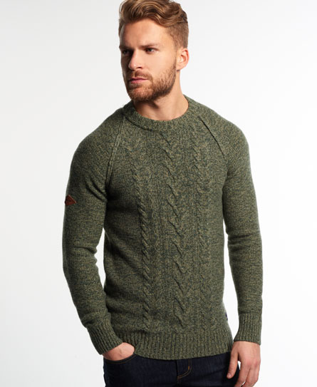 Superdry Cable Crew Jumper - Men's Sweaters