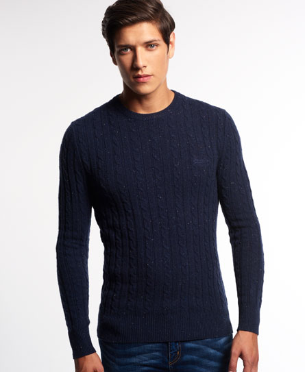 Superdry Harrow Cable Knit Sweater - Men's Sweaters