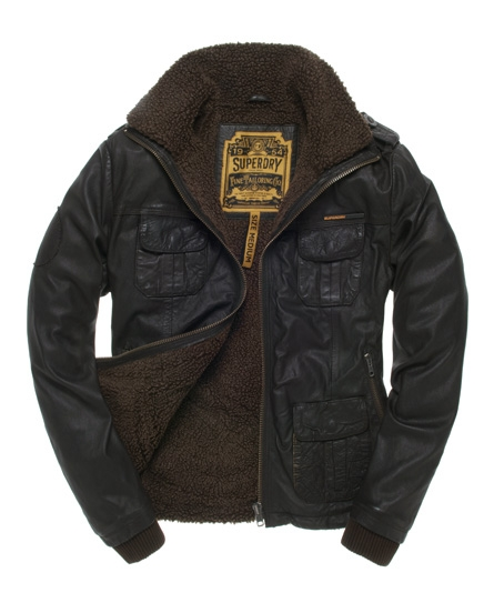 Superdry Brad Flight Jacket Brown