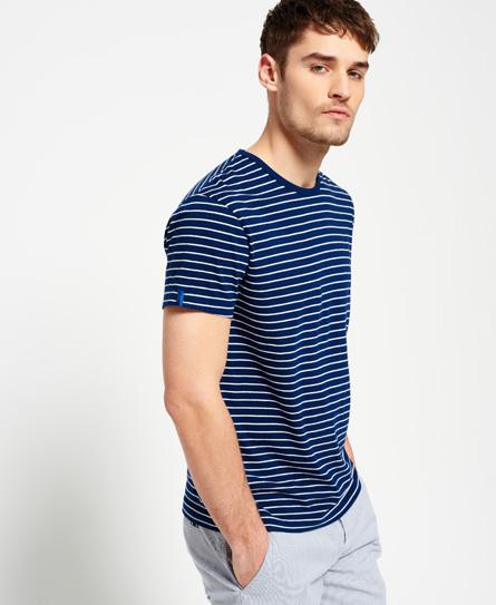 Superdry IE Refined T-Shirt mit Breton-Streifen
