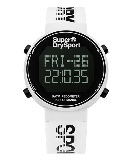 white/black reflective Superdry Digi Pedometer