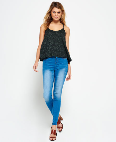 havana blue Superdry Sophia High Waist Super Skinny Jeans