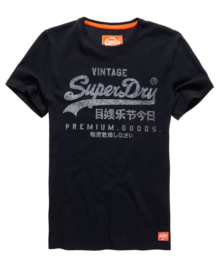 mens premium goods t shirt in eclipse navy superdry. Black Bedroom Furniture Sets. Home Design Ideas