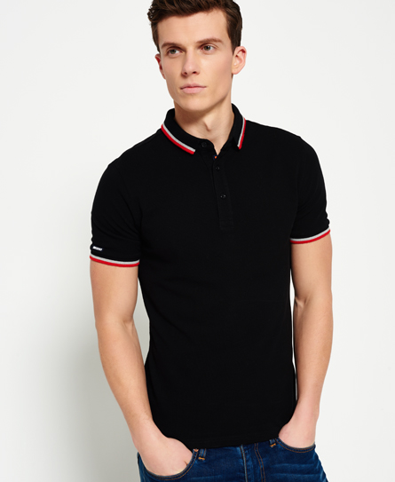 negro Superdry Polo City Sport