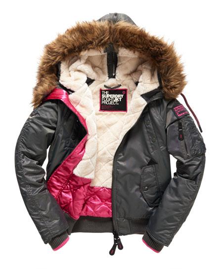 Vestes Et Superdry Femme Sd Blouson Winter 3 Manteaux Bomber Pour CnqUPwqX